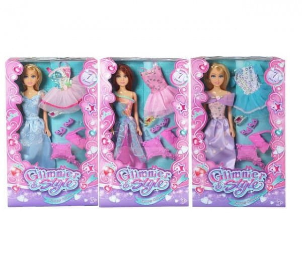 Кукла Glimmer and Style Стильная модница с аксессуарами (Funville)
