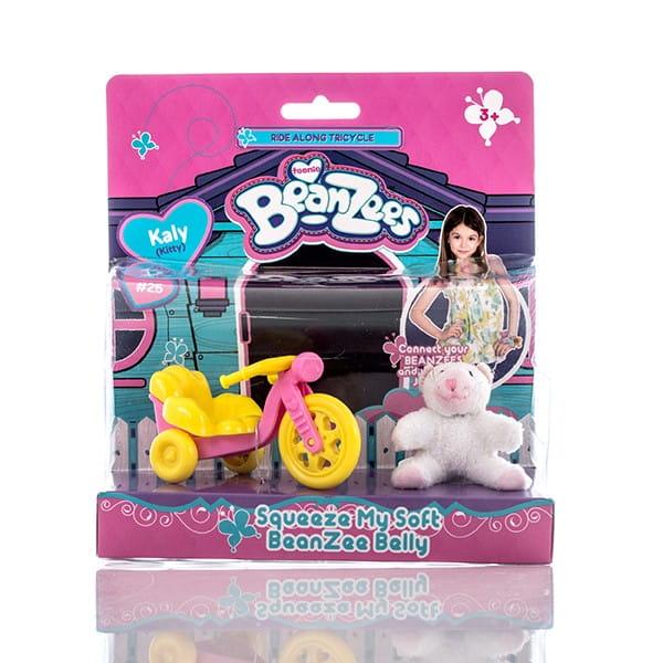 Игровой набор BeanZeez Бинзис Котенок с велосипедом