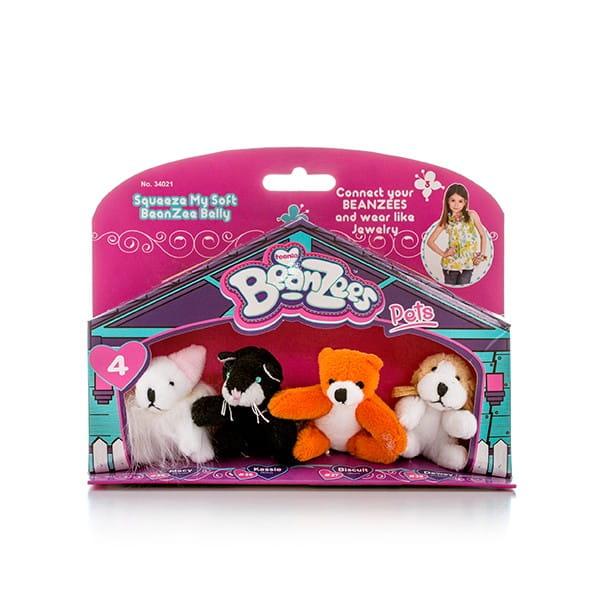 Игровой набор BeanZeez Бинзис Мышка, котик, медведь и песик