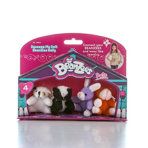 Игровой набор BeanZeez B34031 Бинзис Песик, скунс, кролик и котик