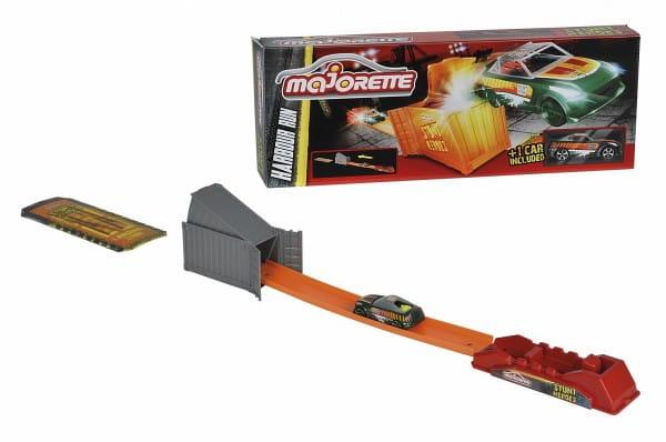 Купить Трек Majorette Stunt Heroes Побег из порта (с машинкой) в интернет магазине игрушек и детских товаров