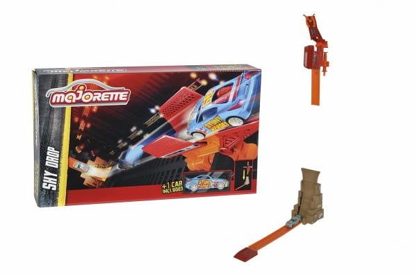 Купить Трек Majorette Stunt Heroes Падение с неба (с машинкой) в интернет магазине игрушек и детских товаров