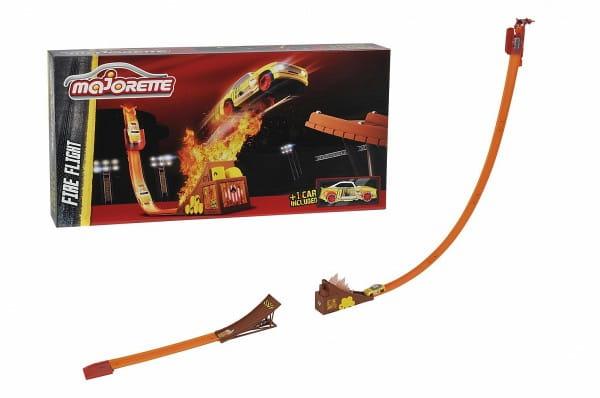 Купить Трек Majorette Stunt Heroes Огненный прыжок (с машинкой) в интернет магазине игрушек и детских товаров