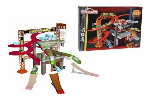 Купить Парковка Majorette Stunt Heroes (с машинкой) в интернет магазине игрушек и детских товаров