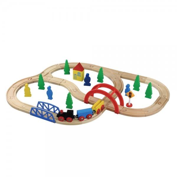 Купить Конструктор Balbi Железная дорога - 40 деталей в интернет магазине игрушек и детских товаров