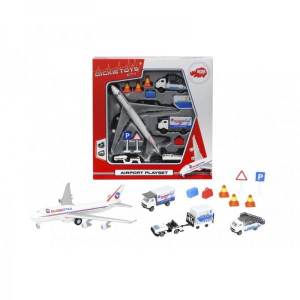 Игровой набор Dickie 3743001 Аэропорт (13 предметов)
