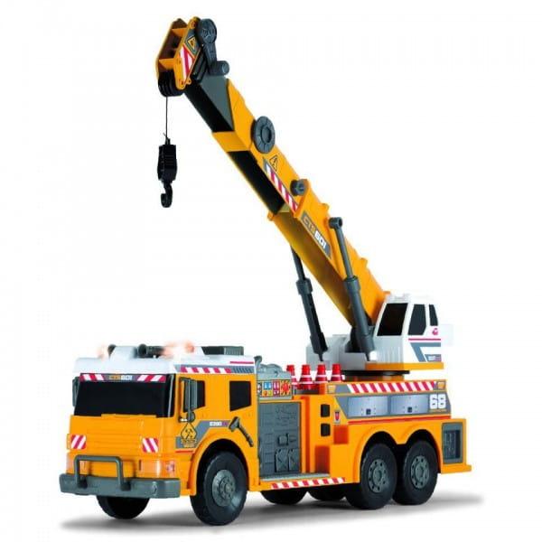 Машинка Dickie 3729004 с подъемным краном и аксессуарами