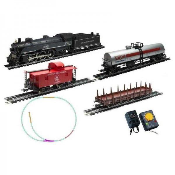 Стартовый набор Железная дорога Mehano Prestige Паровоз (4-6-2) с 3-мя вагонами
