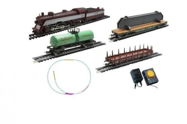Купить Стартовый набор Mehano Prestige Паровоз с 3-мя вагонами (коричневый) в интернет магазине игрушек и детских товаров