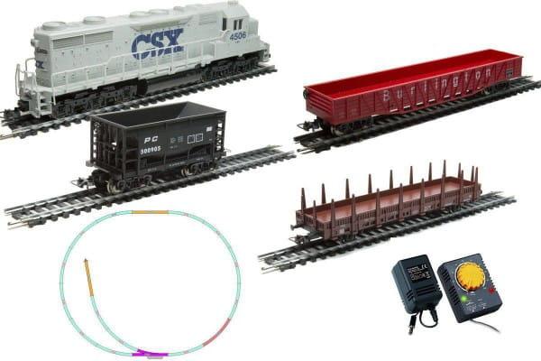 Стартовый набор Mehano Hobby Тепловоз CSX с 3-мя вагонами