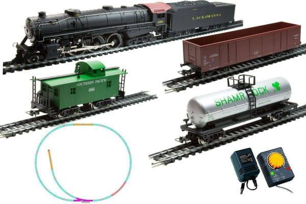 Купить Стартовый набор Mehano Prestige Паровоз Hudson с 3-мя вагонами в интернет магазине игрушек и детских товаров
