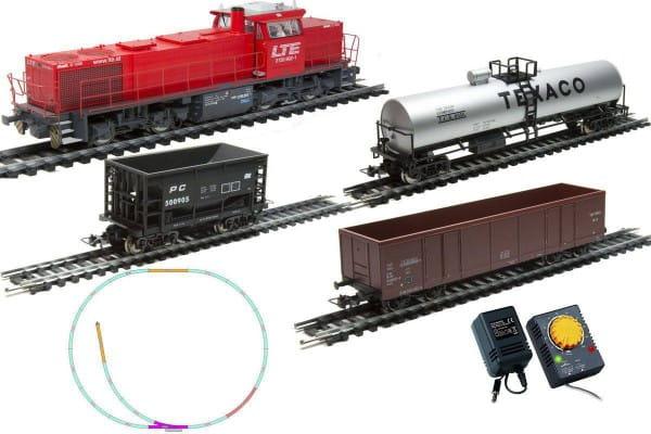 Купить Стартовый набор Mehano Prestige Тепловоз G1206 с 3-мя вагонами в интернет магазине игрушек и детских товаров