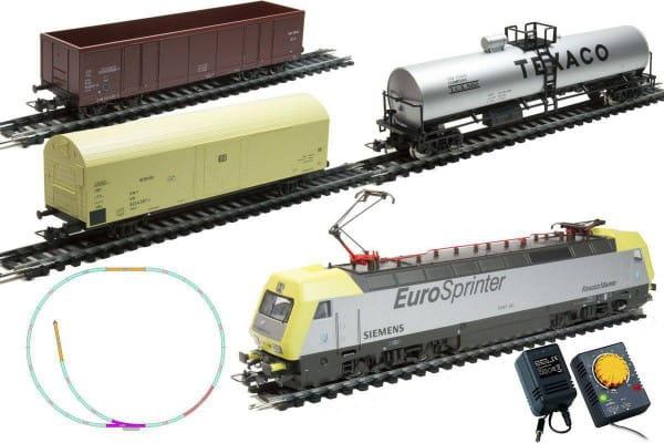 Стартовый набор Mehano Prestige Электровоз Eurosprinter с 3-мя вагонами