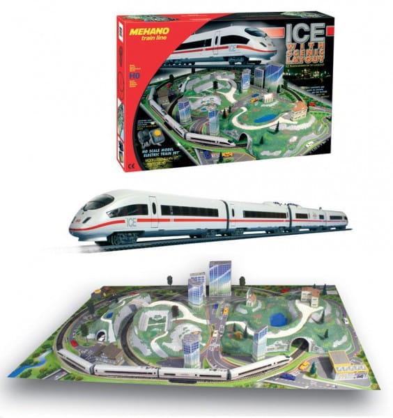 Стартовый набор Mehano Ice-3 с ландшафтом - Сапсан