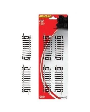 Игровой набор Mehano Прямые и поворотные рельсы - 457,2 мм (4 штуки)