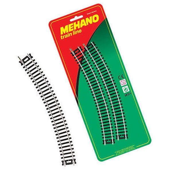 Игровой набор Mehano F210 Радиальные рельсы - 30/ R 457,2 мм (4 штуки)
