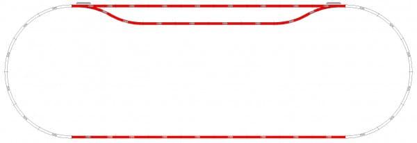 Набор рельс Mehano F110 №10