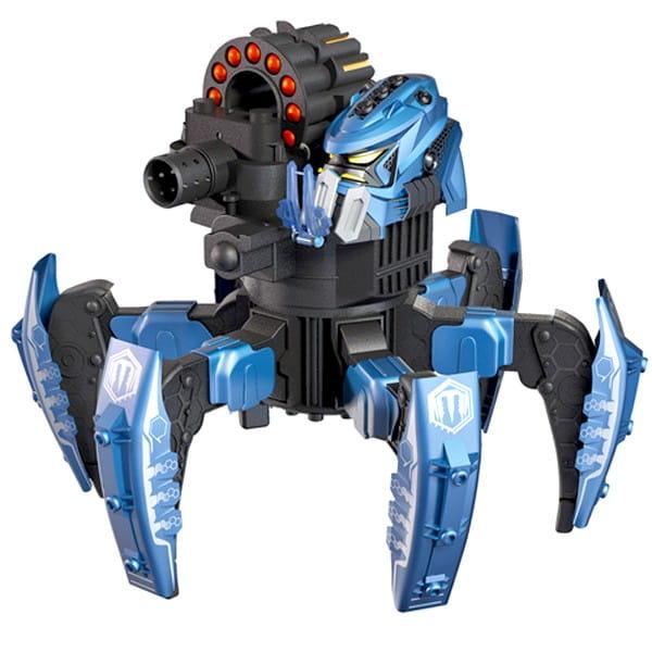Радиоуправляемый робот Combat Creatures Attacknid - Vanguard Stryder синий (Wow Stuff)