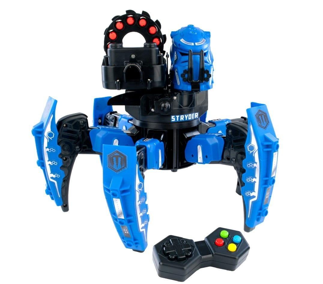 Радиоуправляемый робот Combat Creatures CC-1003 Attacknid - Vanguard Stryder синий (Wow Stuff)