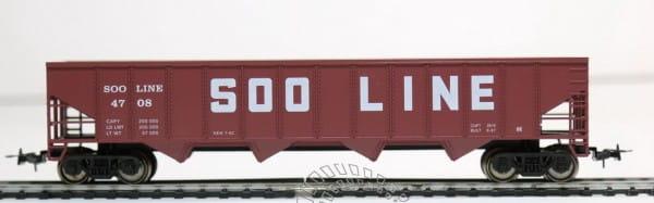 Игровой набор Mehano T077 Саморазгружающийся бункерный грузовой вагон 50 Soo Line