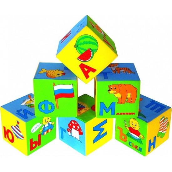 Развивающие кубики Мякиши Умная азбука