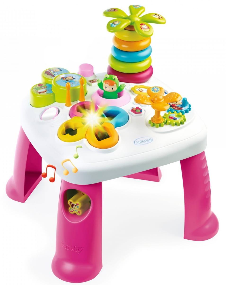 Развивающий игровой стол Cotoons - розовый (SMOBY)
