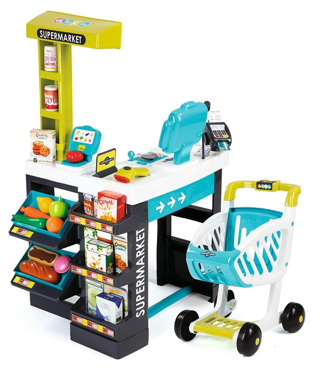 Супермаркет с тележкой Smoby 350206 - синий