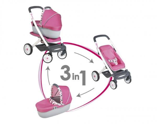 Купить Коляска-трансформер для кукол 3 в 1 Maxi Cosi Quinny (Smoby) в интернет магазине игрушек и детских товаров