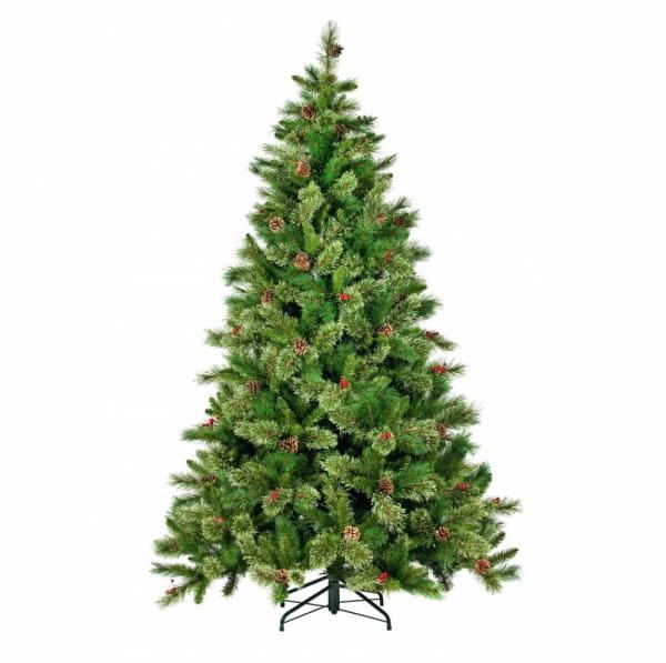 Купить Искусственная елка с шишками и ягодами Black Box Регина - 155 см в интернет магазине игрушек и детских товаров