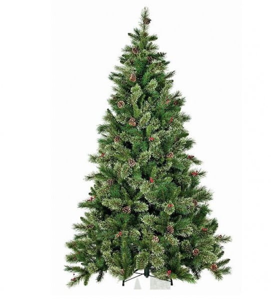 Купить Искусственная елка с шишками и ягодами Black Box Регина - 185 см в интернет магазине игрушек и детских товаров