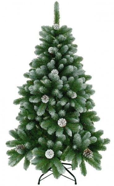 Купить Ель Crystal Trees Триумфальная заснеженная с шишками - 120 см в интернет магазине игрушек и детских товаров