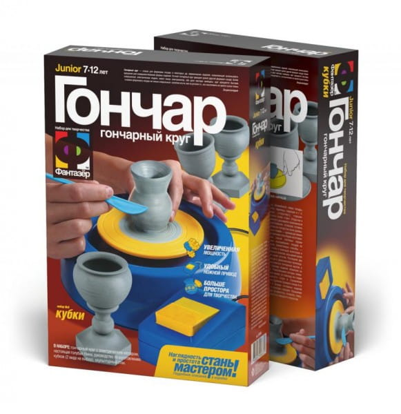 Купить Набор для творчества Гончар Кубки (Фантазер) в интернет магазине игрушек и детских товаров