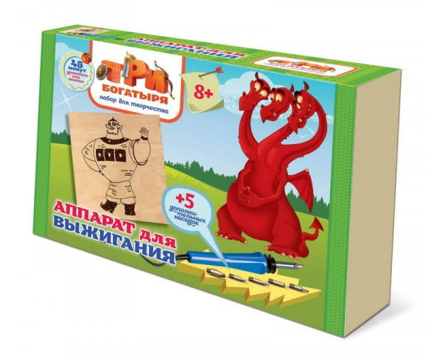 Купить Набор для выжигания Фантазер Три богатыря - Добрыня Никитич в интернет магазине игрушек и детских товаров