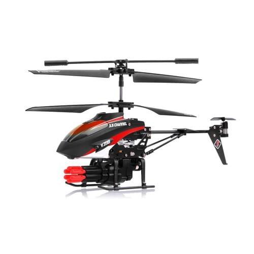 Купить Радиоуправляемый вертолет WL Toys V398 с ракетной установкой и снарядами - 23 см в интернет магазине игрушек и детских товаров