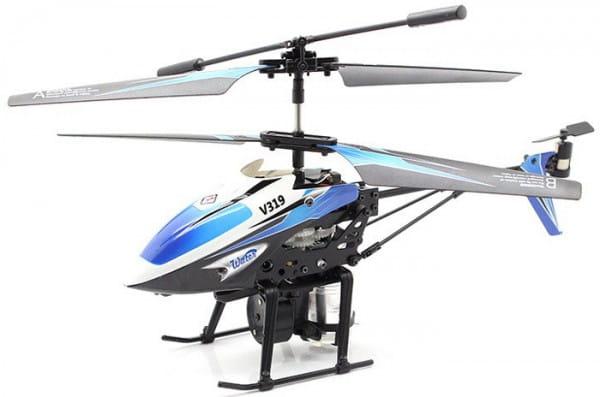 Купить Радиоуправляемый вертолет WL Toys V319 с водяной пушкой - 19 см в интернет магазине игрушек и детских товаров
