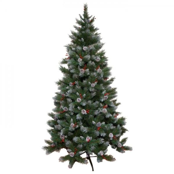 Купить Ель Triumph Tree с шишками и ягодами Шарлотта заснеженная - 230 см в интернет магазине игрушек и детских товаров