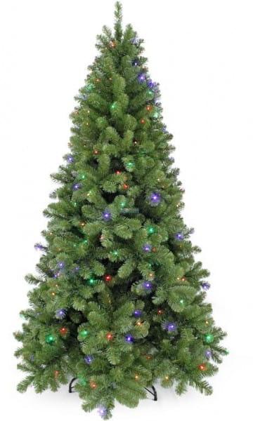 Сосна Triumph Tree Санкт-Петербург с 288 лампочками (теплый мультиколор) - 230 см