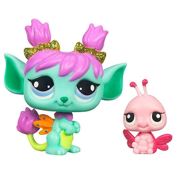 Купить Игровой набор Littlest Pet Shop Фея Тюльпан с другом (Hasbro) в интернет магазине игрушек и детских товаров