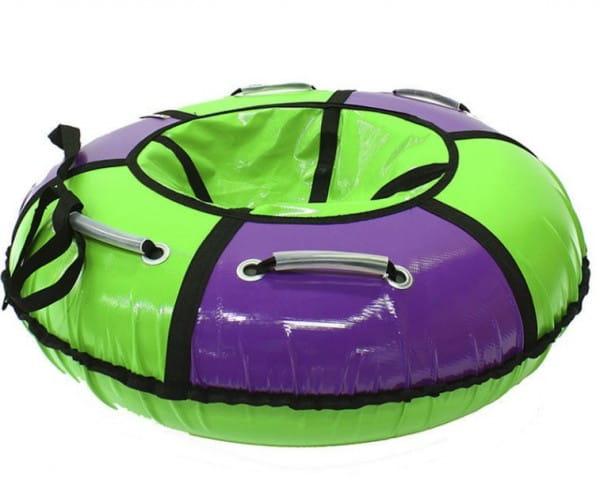 Купить Тюбинг Hubster Классик - 90 см (сиреневый-зеленый) в интернет магазине игрушек и детских товаров
