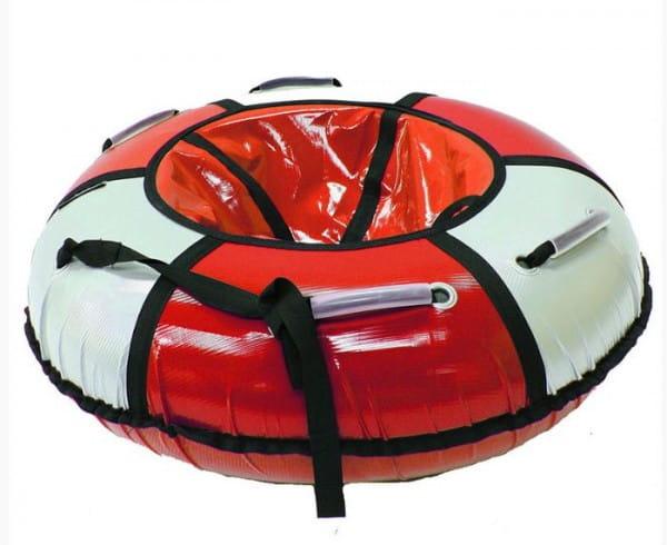 Купить Тюбинг Hubster Классик - 90 см (красный-серебро) в интернет магазине игрушек и детских товаров