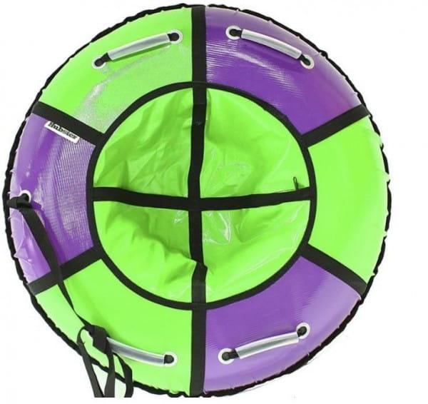 Купить Тюбинг Hubster Классик - 105 см (сиреневый-зеленый) в интернет магазине игрушек и детских товаров