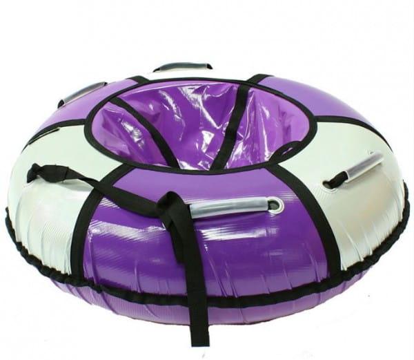 Купить Тюбинг Hubster Классик - 105 см (сиреневый-серебро) в интернет магазине игрушек и детских товаров