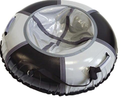 Купить Тюбинг Hubster Классик - 105 см (черный-серебро) в интернет магазине игрушек и детских товаров