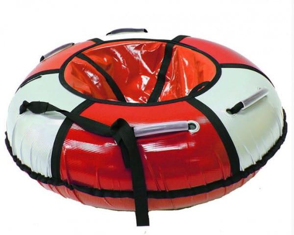 Купить Тюбинг Hubster Классик - 120 см (красный-серебро) в интернет магазине игрушек и детских товаров