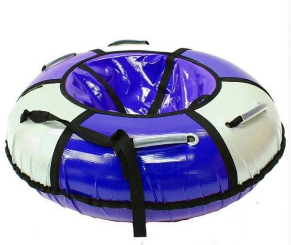 Купить Тюбинг Hubster Классик - 120 см (синий-серебро) в интернет магазине игрушек и детских товаров