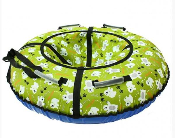 Купить Тюбинг Hubster Люкс Мишки - 90 см (зеленый) в интернет магазине игрушек и детских товаров