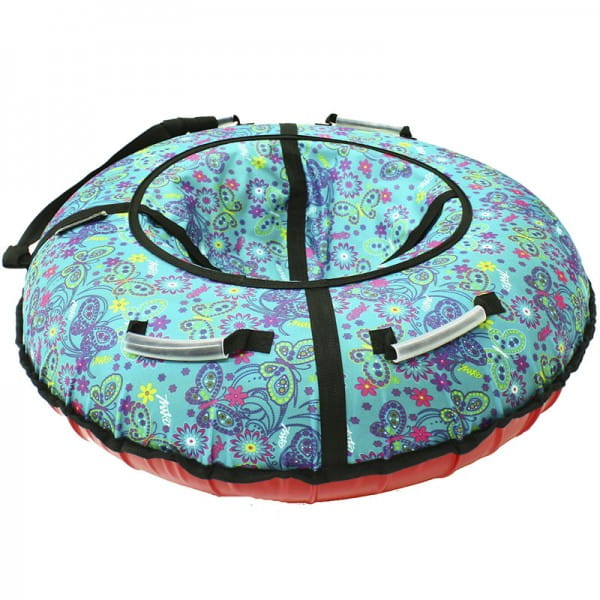Купить Тюбинг Hubster Люкс Бабочки - 105 см (бирюзовый) в интернет магазине игрушек и детских товаров