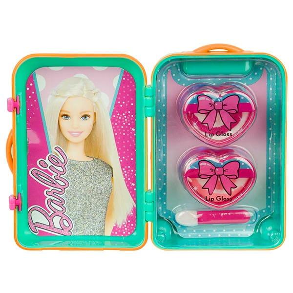 Купить Набор детской декоративной косметики Markwins Barbie в зеленом чемоданчике в интернет магазине игрушек и детских товаров