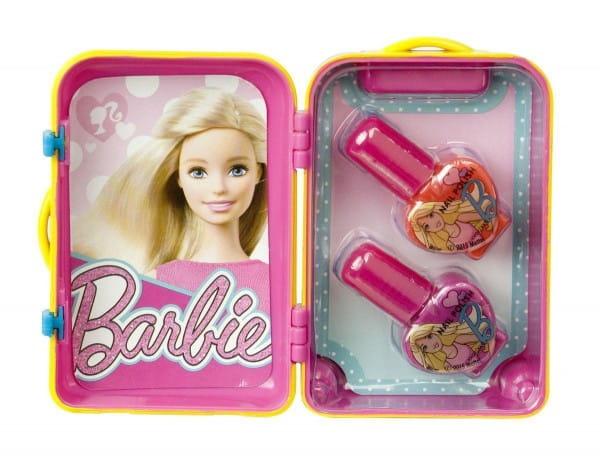 Купить Набор детской декоративной косметики Markwins Barbie в розовом чемоданчике в интернет магазине игрушек и детских товаров