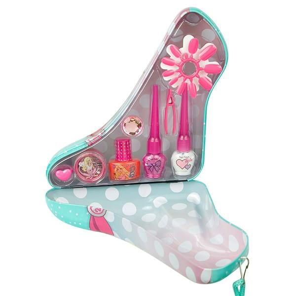 Купить Набор детской декоративной косметики Markwins Barbie в зеленой туфельке в интернет магазине игрушек и детских товаров